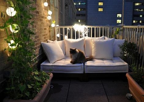 Kleine Terrassen woonblog tuin
