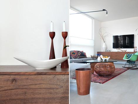 Binnenkijken in een mid century modern interieur woonblog - Interieur decoratie modern hout ...