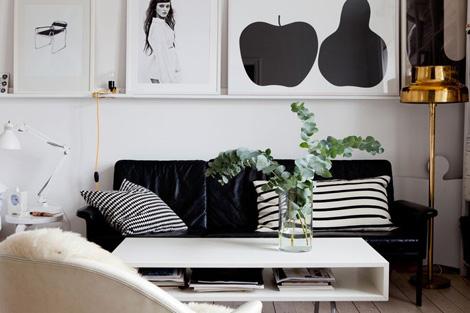 Zwart Wit Appartement : Binnenkijken in een klein zwart wit appartementje woonblog