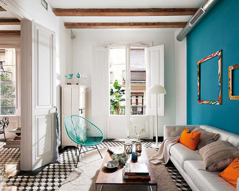 Retro modern barcelona appartement 01