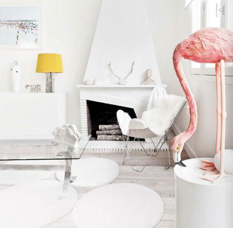 Flamingo deco interior trend