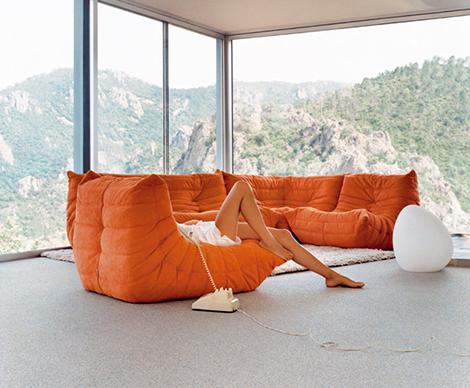 Op zoek naar de ideale zetel het wordt de togo van ligne for Design zetel