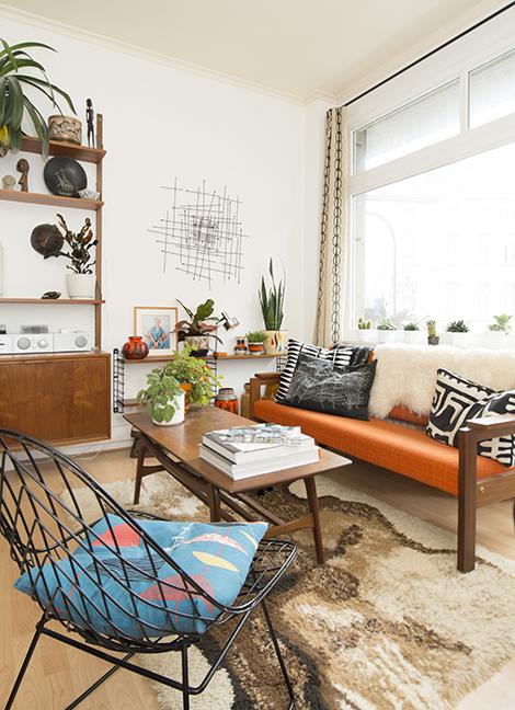 Binnenkijken in een mid century modern appartement in brussel woonblog - Modern appartement modern appartement ...