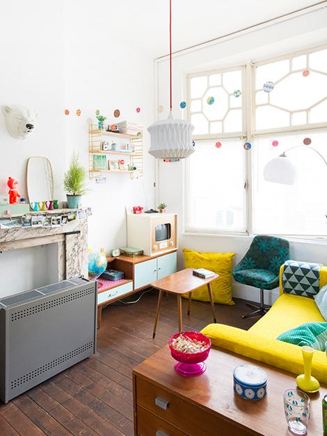 Binnenkijken in een kleurrijk vintage appartement in Gent - woonblog