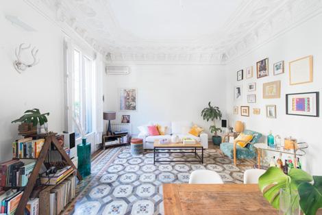 Binnenkijken in een eclectisch vintage appartement in Barcelona ...