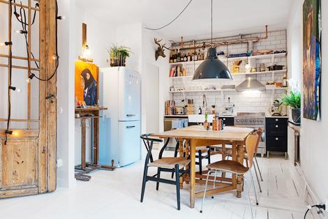 Gezellige rommel in een keuken zonder kasten - woonblog