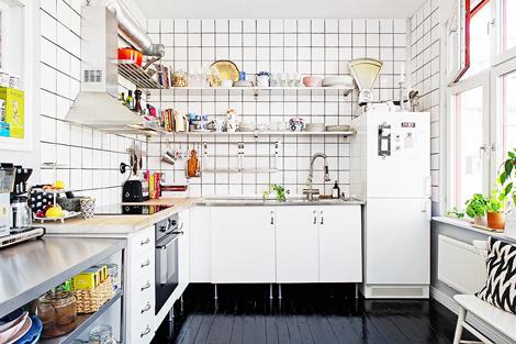 Tegels Keuken Witte : Zwart wit tegels keuken. free een leuk detail is dat het zwartwit