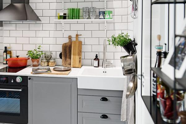 Keuken Grijs Ikea : Ook in combinatie met goudkleurige elementen komt de keuken prachtig