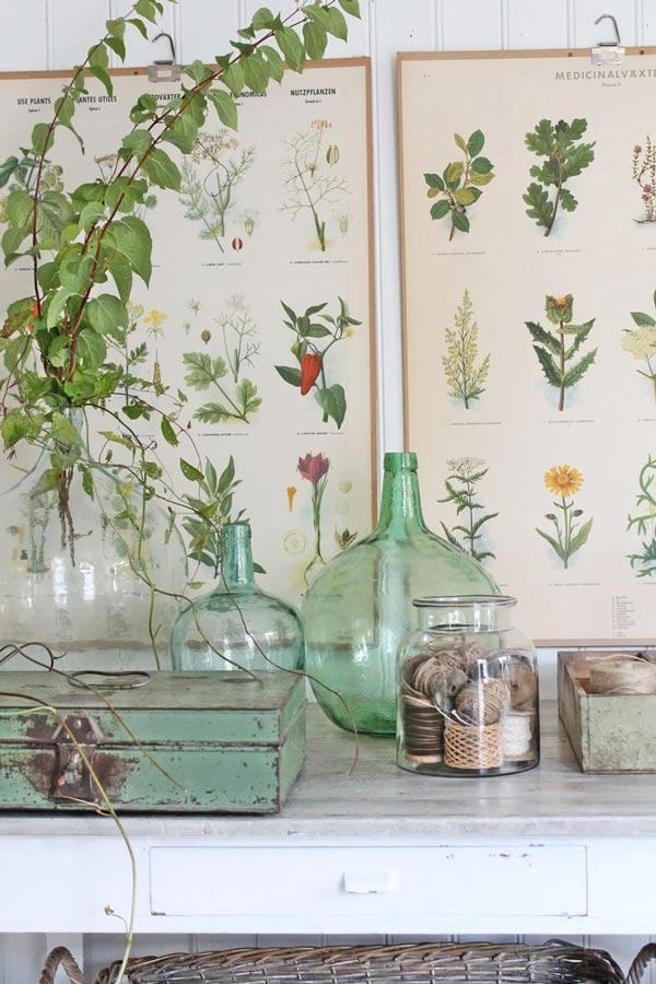 Trend botanische vintage prints woonblog for Deco oude huis