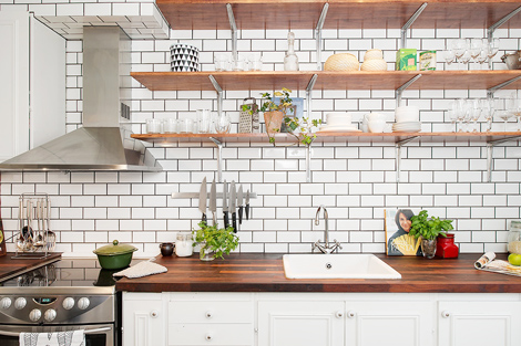 Metrotegels in de keuken woonblog for Tegels zonder voeg