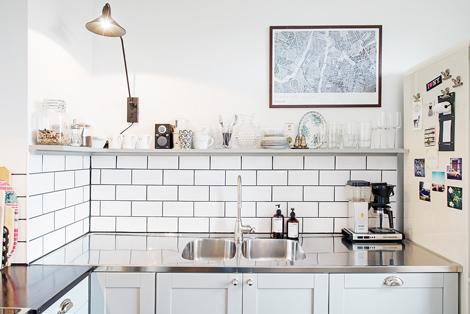 Tegels Metro Keuken : Metrotegels in de keuken woon