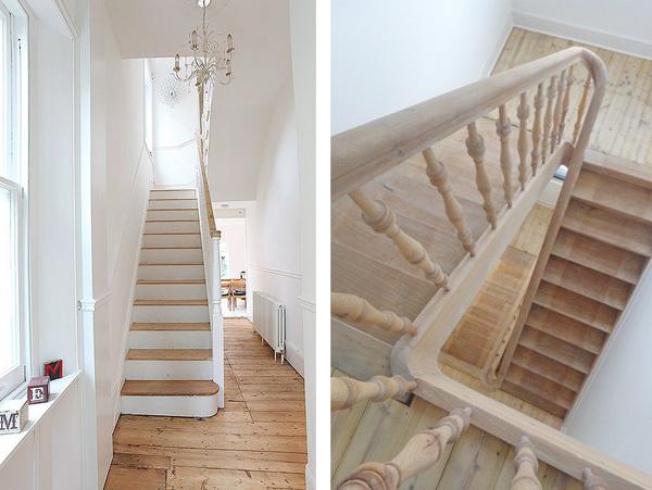 Op zoek naar een nieuwe oude trap woonblog - Geschilderde houten trap ...